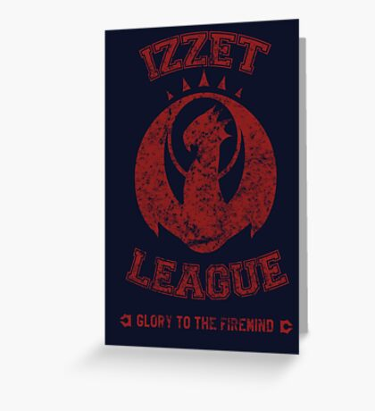 IZZET LEAGUE Greeting Card