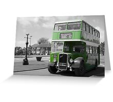Big Green Bus Greeting Card