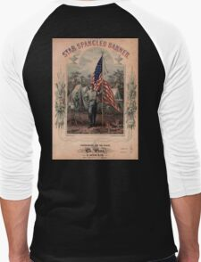 American Civil War, Poster, Star Spangled Banner, America, American, USA, United States Men's Baseball ¾ T-Shirt