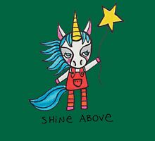 Shine Above: Unicorn Drawing Watercolor Illustration Womens Fitted T-Shirt