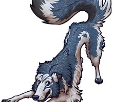 Blue Borzoi by farorenightclaw