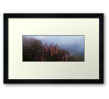 The Misty Sisters Framed Print