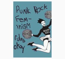 Bikini Kill Punk Rock Feminism Rules Okay! Kids Tee