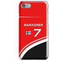 F1 2014 - #7 Raikkonen iPhone Case/Skin
