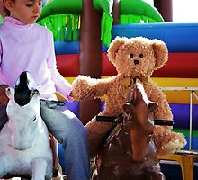 'The Bear' At The show, On A Merry-go-round by Liza Barlow