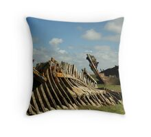 TWO WRECKS AND A BOAT Throw Pillow