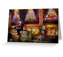 Americana - Carnival - Strange Oddities  Greeting Card