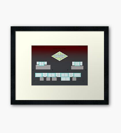 sections of the atelier Framed Print