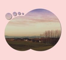 Beautiful panorama under a cloudy sky | landscape photography Kids Clothes