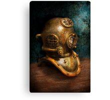 Steampunk - Diving - The diving helmet Canvas Print