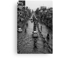 Here comes the flood... Canvas Print