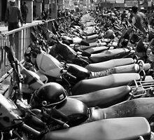 Motorcycles, Kathmandu by John Callaway