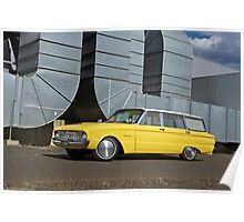 Yellow Ford Falcon XK Wagon Poster
