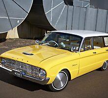 Yellow Ford Falcon XK Wagon by John Jovic