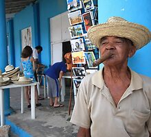 Cigar smoking Cuban - Viñales by fionapine