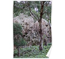Hanging Rock, Macedon Ranges, Victoria Poster