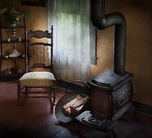 Furniture - Chair - Happiness is a warm seat by Mike  Savad