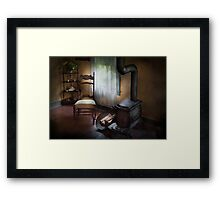 Furniture - Chair - Happiness is a warm seat Framed Print