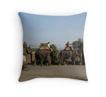 Rush Hour Throw Pillow