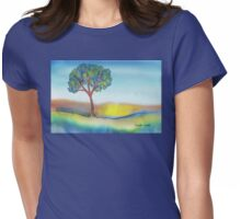 Lone Tree in Summer Womens Fitted T-Shirt