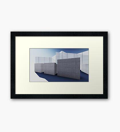 render 4 Framed Print