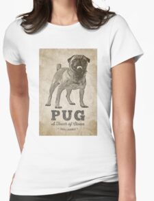 Pug A Touch of Clown Womens Fitted T-Shirt