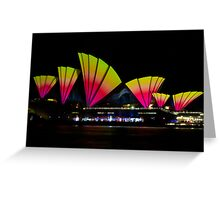 Fire Sails - Sydney Vivid Festival - Sydney Opera House Greeting Card