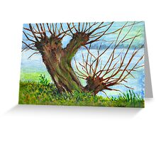 2 WILLOW TREES Greeting Card