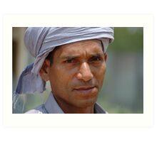 white turban Art Print