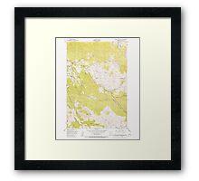 USGS Topo Map Oregon Green Mountain 280095 1949 24000 Framed Print