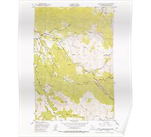 USGS Topo Map Oregon Green Mountain 280095 1949 24000 Poster