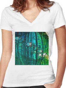 MRI Bubble  T-Shirt Women's Fitted V-Neck T-Shirt