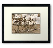 High-Wheel Bicycles Framed Print
