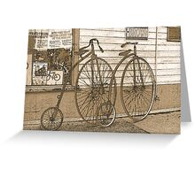 High-Wheel Bicycles Greeting Card