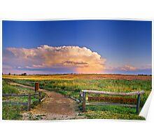 Summer Evening Thunderstorms Poster