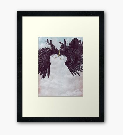Love In Falling Framed Print