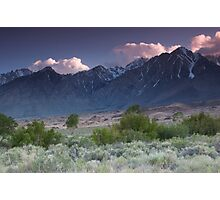Goodall Creek looking south to Sierra Crest Photographic Print