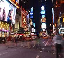 Crazy night at Timesquare by jhei