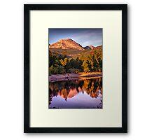 Morning Light Of The Mountain Framed Print