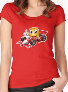 Smiley - Racing Car Women's Fitted Scoop T-Shirt