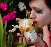 Smelling the flower by Renee D. Miranda