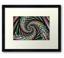 Splits Cylinder Glass Spiral Framed Print