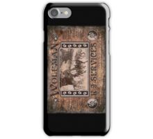 Wolfman K-9 Services Old Poster iPhone Case/Skin