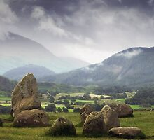 Keswick Stone Circle, Lake District, Cumbria by RodneyCleasby