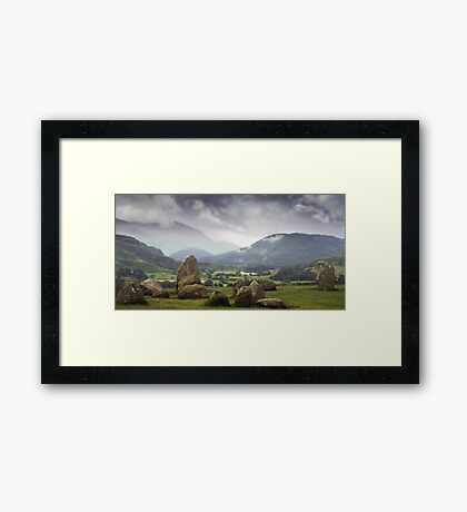 Keswick Stone Circle, Lake District, Cumbria Framed Print