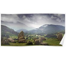 Keswick Stone Circle, Lake District, Cumbria Poster