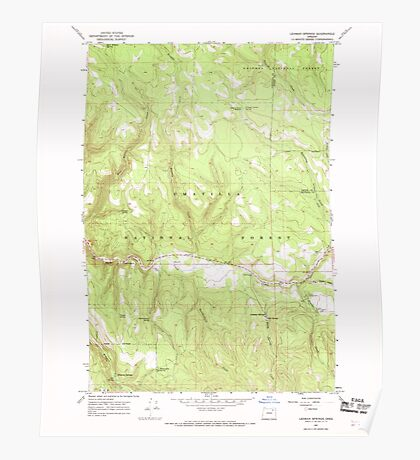 USGS Topo Map Oregon Lehman Springs 280501 1967 24000 Poster