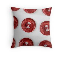 old buttons Throw Pillow