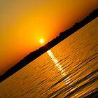 Sunset at Round lake in Michigan by WilliamJPhoto