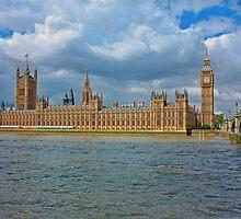 Golden Westminster on Riverside, London by Ryder49